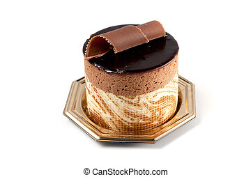 Chocolate Pastry on white background