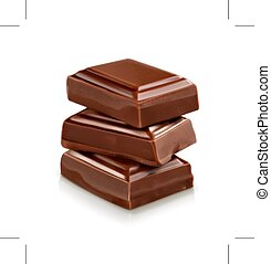 Chocolate pieces illustration