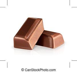 Chocolate pieces illustration