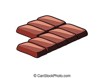 Chocolate Pieces Vector