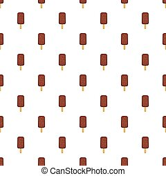 Chocolate popsicle on a stick pattern