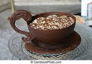 Chocolate Pudding - a cup of chocolate pudding