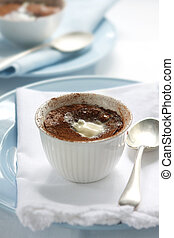 Chocolate Pudding - Chocolate pudding, topped with melting ...