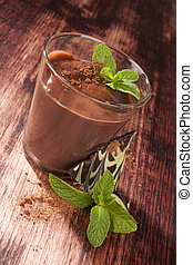 Chocolate pudding. - Delicious chocolate pudding with cocoa...
