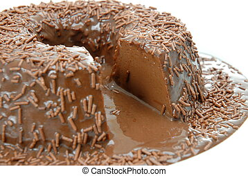 Chocolate Pudding - Pudding of Chocolate with syrup and ...