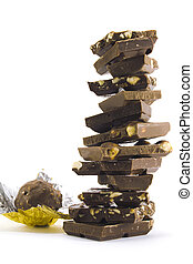 chocolate pyramid and ball
