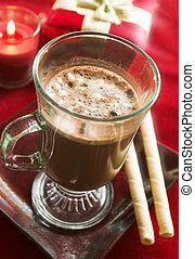 chocolate quente, bebida
