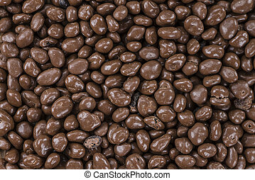 Chocolate Raisins (for use as background) - Chocolate...