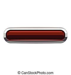 Chocolate rectangular button icon, cartoon style