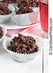 Chocolate rice cakes - Chocolate covered crispy rice cakes