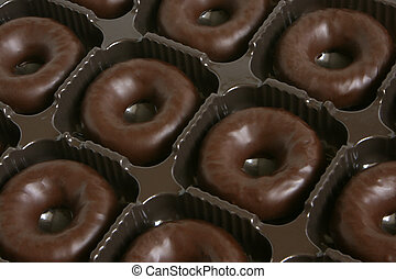 Chocolate rings in a box