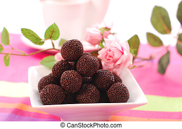 chocolate rum balls - chocolate rum ball in bowl for sweet...