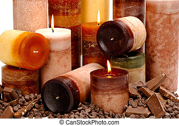 Chocolate Scented Candles - Assortment of chocolate scented...