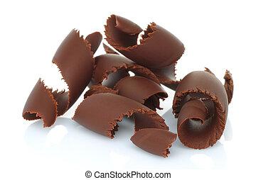 Chocolate shavings