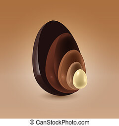 Chocolate shells in motion