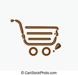 Chocolate shopping icon
