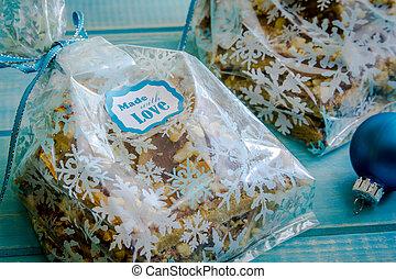 Chocolate Shortbread Holiday Cookies - Homemade shortbread ...