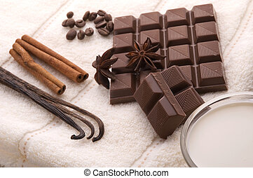 chocolate spa - sensuality spa. chocolate, milk and spices -...