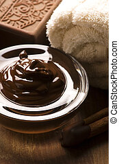 Chocolate spa with cinnamon