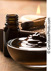 Chocolate spa with cinnamon