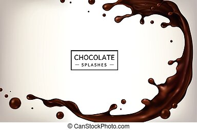 Chocolate splashes elements