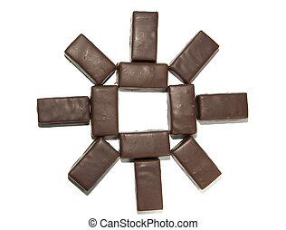 Chocolate Sun - A geometric figure, resembling a sun or a...