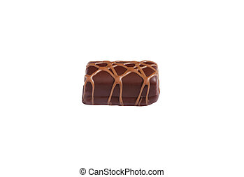 Chocolate sweet isolated on a white background.