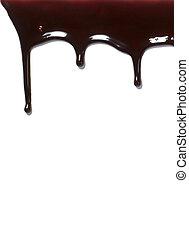 chocolate syrup leaking liquid sweet food