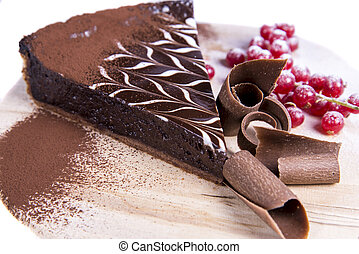 Chocolate tart cake