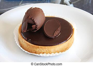 Chocolate tart - Dark chocolate ganache tart luxurious...