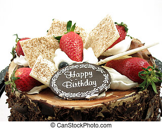 chocolate, torta de cumpleaños