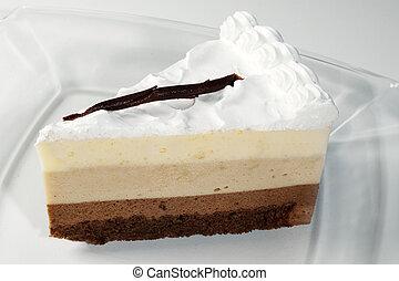 Chocolate tricolor cake