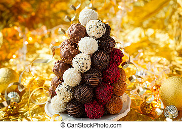 Chocolate Truffle Christmas Tree