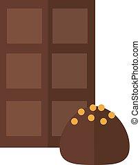Chocolate truffle vector illustration. - Chocolate candies...