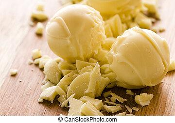 Chocolate truffles - Gourmet white chocolate truffles hand ...