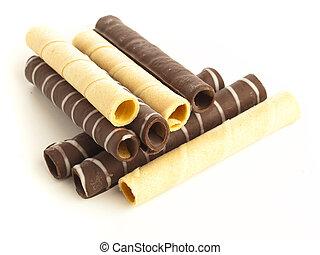 chocolate tubes