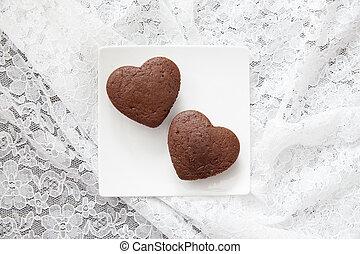 Chocolate Valentine Cake (heart shape)