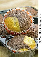 Chocolate vanilla muffins