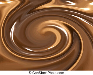 chocolate - image of nice milk and dark chocolate