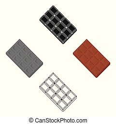 Chocolate vector icon in cartoon style for web