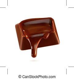 Chocolate, vector illustration