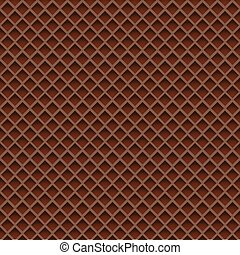 Chocolate Wafer Background. Vector Illustration