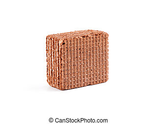 chocolate wafers isolated on a white background