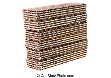 Chocolate wafers - Combined one on another chocolate wafers....