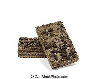 Chocolate wafers - Two wafers, coated with chocolate and ...