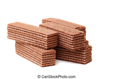 Chocolate wafers with cream filling