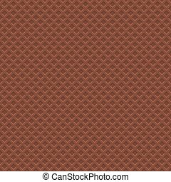 Chocolate Waffle Texture Pattern. Seamless Background. Vector