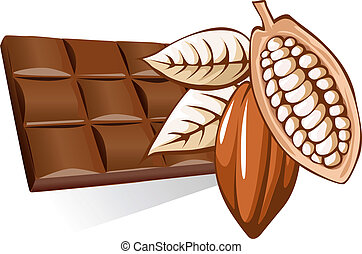 chocolate with cocoa bean