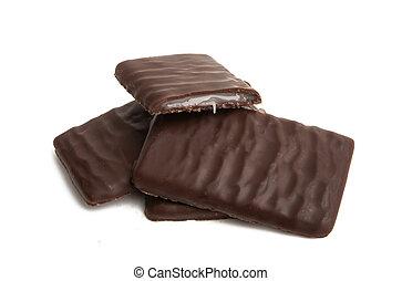 chocolate with mint cream