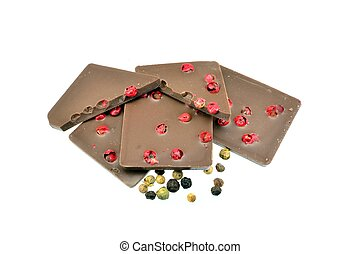 Chocolate with pepper corns